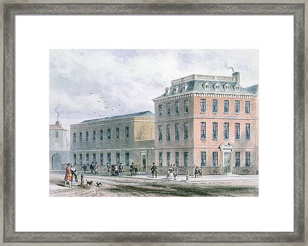 View Of Soho Square And Carlisle House Wc On Paper Framed Print