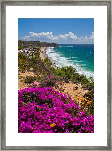View Of Strand Beach And Dana Point Headland Framed Print