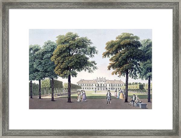 View Of The Chateau Of Pleasure Framed Print