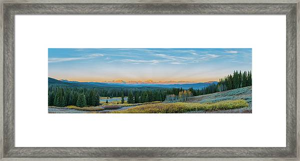 View Of The Grand Teton Mountains Framed Print by Richard and Susan Day