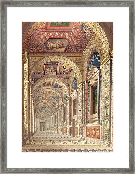 View Of The Second Floor Loggia Framed Print