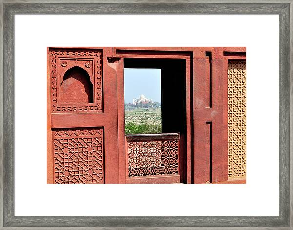 View Of The Taj Mahal Framed Print