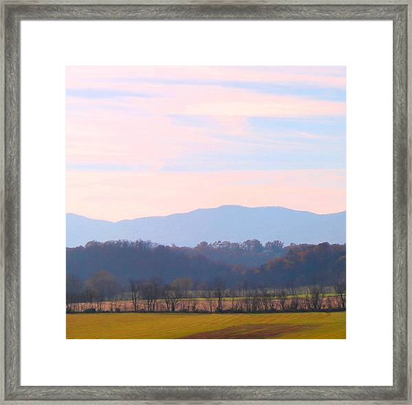 View Of The Valley Framed Print