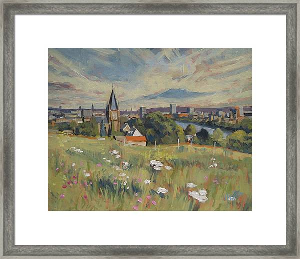 View On Maastricht Framed Print