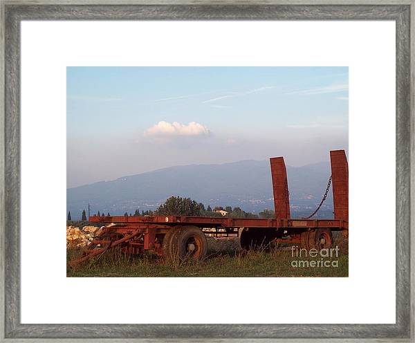 View On Vallombrosa Framed Print