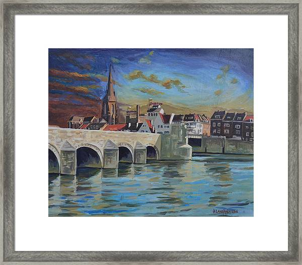 View On Wyck East Bank Maastricht Framed Print