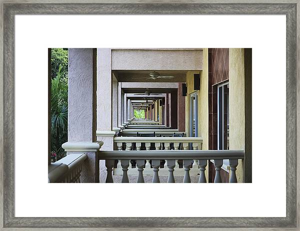 View Through Balconys Framed Print