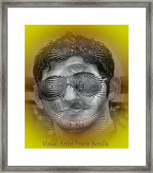 Framed Print featuring the digital art View by Visual Artist Frank Bonilla