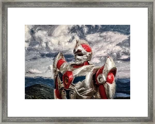 View Wth A Robot Framed Print