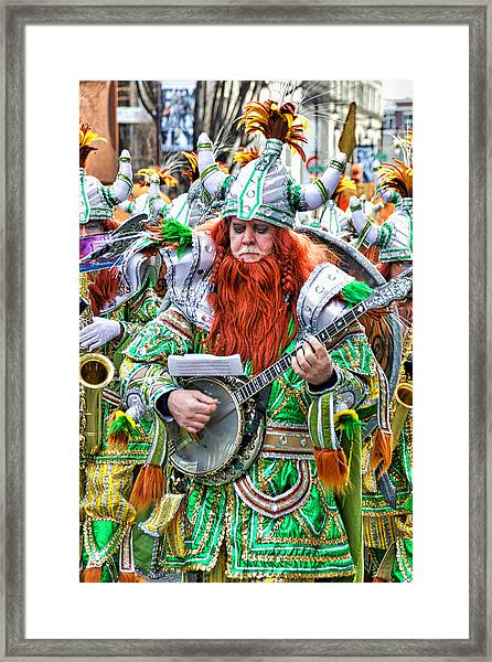 Viking Mummer Framed Print