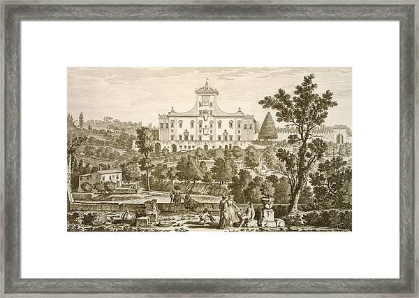 Villa Ricci At Pozzolatico Framed Print