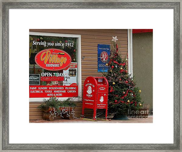 Village Christmas Framed Print