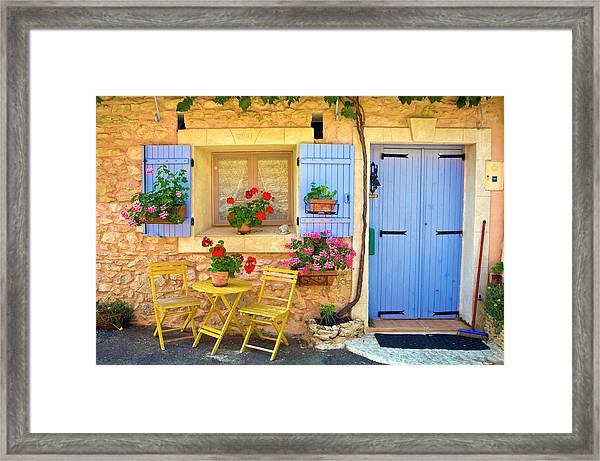 Village House In The Tiny Luberon Framed Print by Barbara Van Zanten