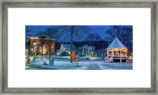 Village Of New Milford - Winter Panoramic Framed Print