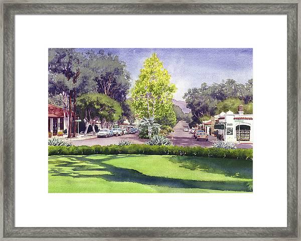 Village Of Rancho Santa Fe Framed Print