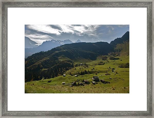 Village Of Spielbodenalp Switzerland Framed Print