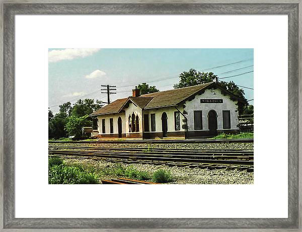 Villisca Train Depot Framed Print