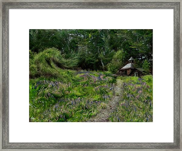 A Lupine Tale  Vincents View Framed Print