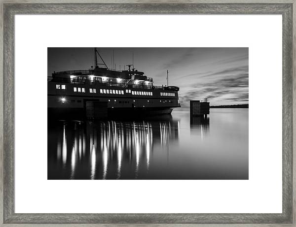 Vineyard Ferry Framed Print
