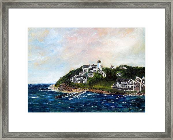 Vineyard Village Framed Print