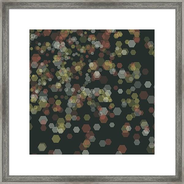 Vintage Abstract 3d Cube Background Pattern Framed Print by FrankRamspott