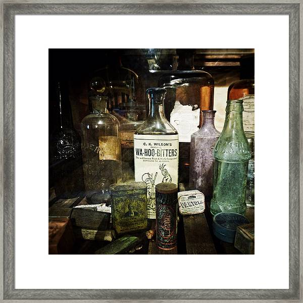 Vintage Apothecary Framed Print
