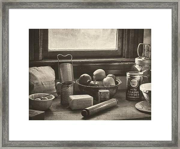 Vintage Art - All The Fixings Framed Print