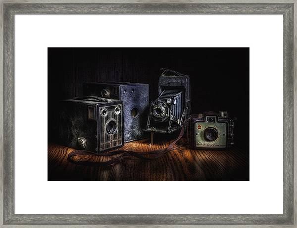 Vintage Cameras Still Life Framed Print