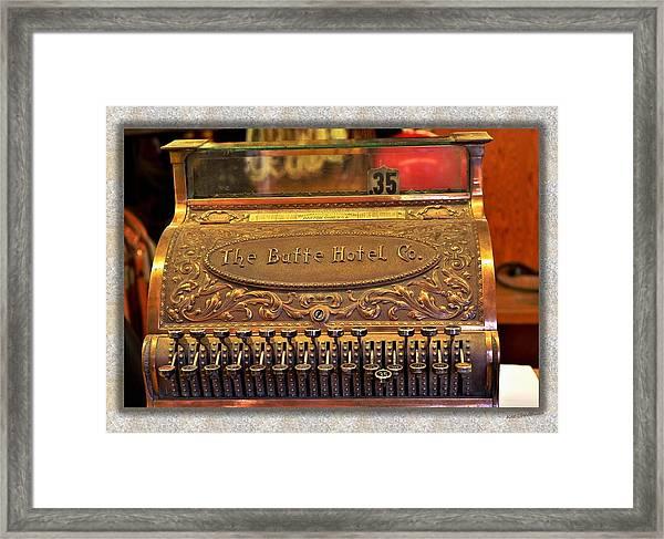 Vintage Cash Register Framed Print