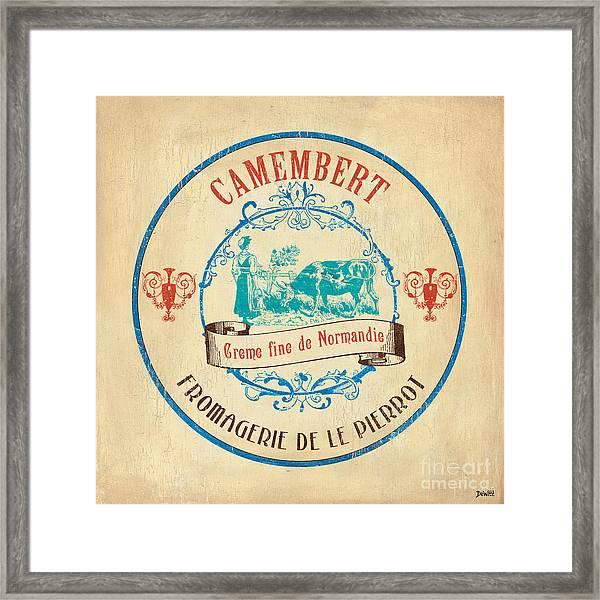 Vintage Cheese Label 3 Framed Print