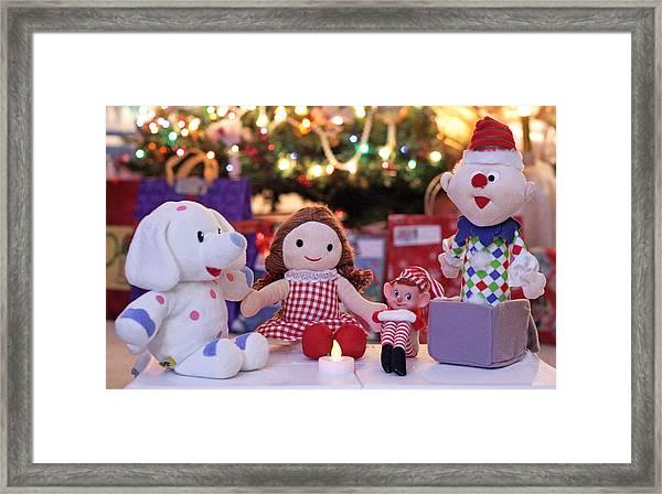 Vintage Christmas Elf Island Of Misfit Toys Framed Print
