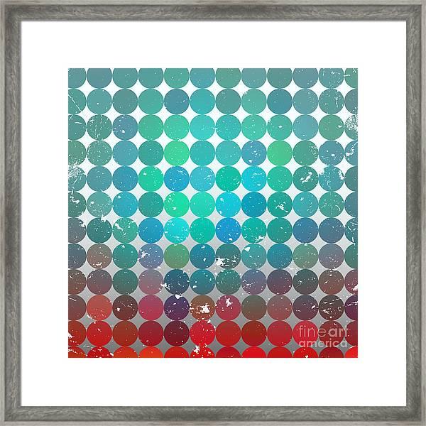 Vintage Circles Pattern.geometric Framed Print by Veronika M