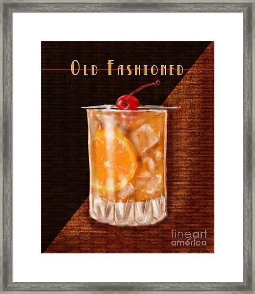 Vintage Cocktails-old Fashioned Framed Print