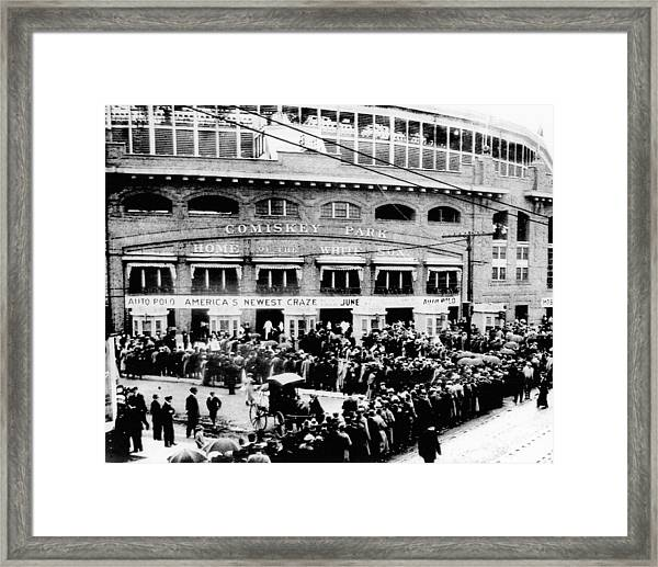 Vintage Comiskey Park - Historical Chicago White Sox Black White Picture Framed Print