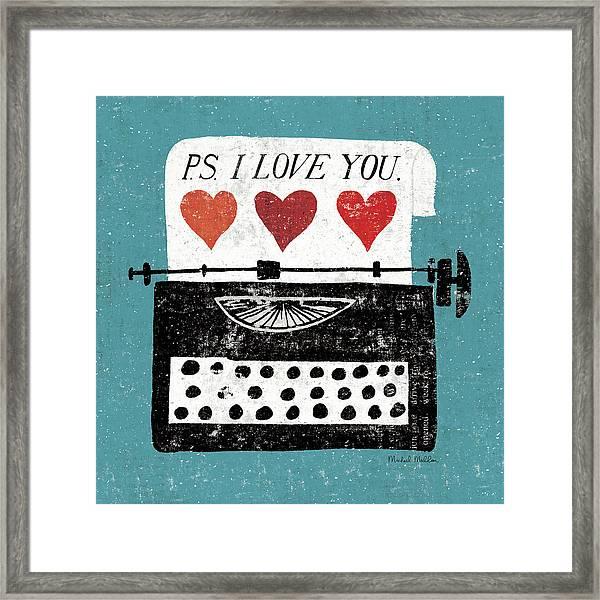 Vintage Desktop - Typewriter Framed Print