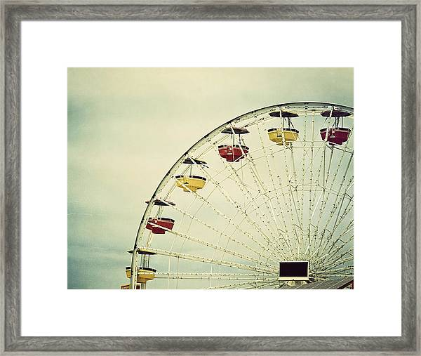 Vintage Ferris Wheel Framed Print
