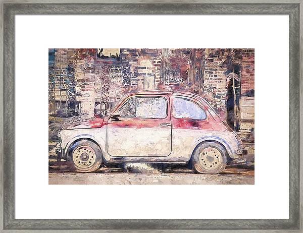Vintage Fiat 500 Framed Print