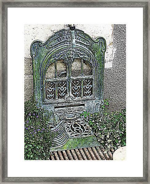 Vintage Garden Grate Framed Print