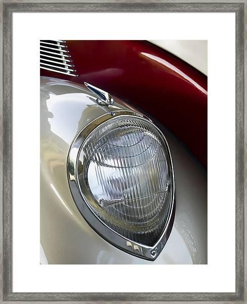 Vintage Headlamp Framed Print