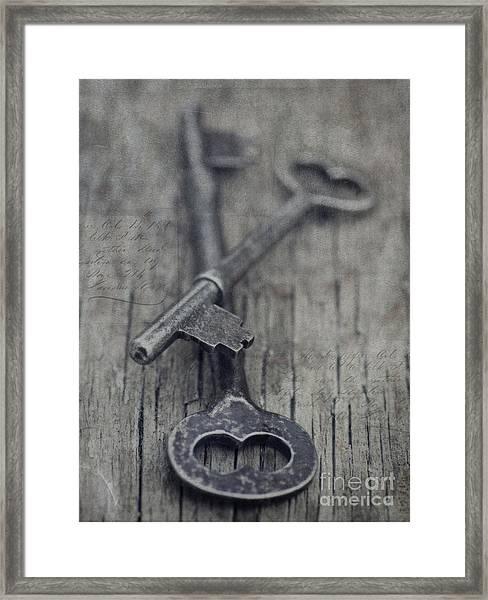 Vintage Keys Framed Print