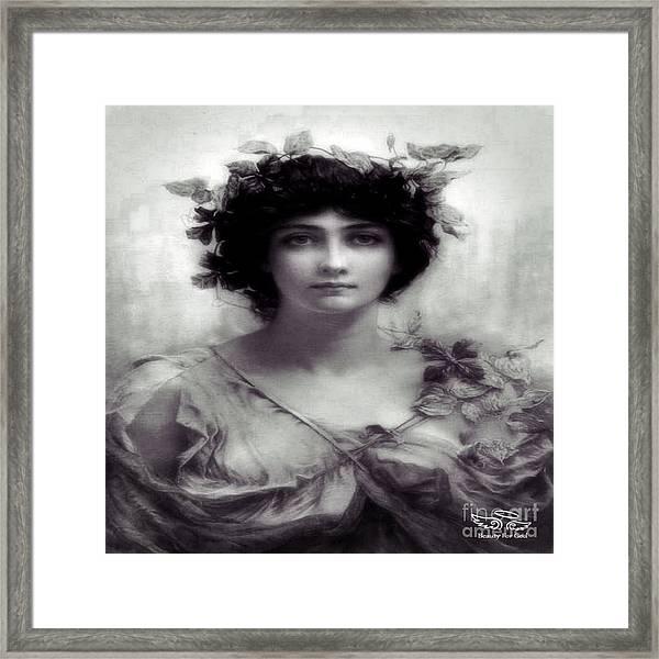 Vintage Lady Framed Print