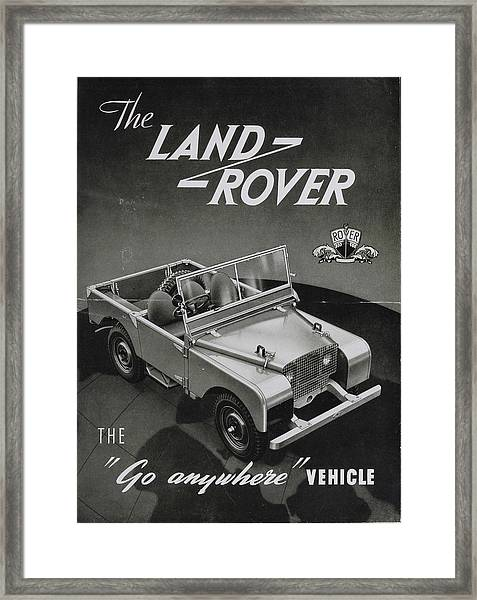 Vintage Land Rover Advert Framed Print