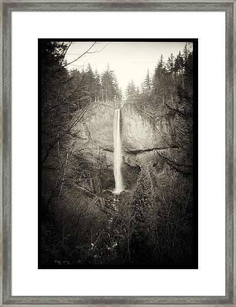 Vintage Latourell Falls Framed Print