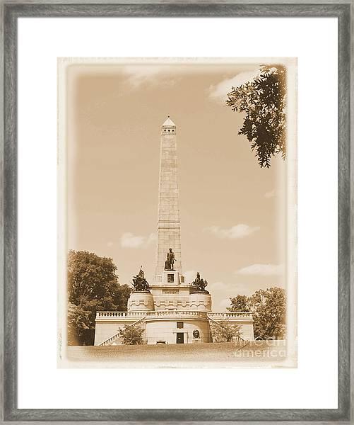 Vintage Lincoln's Tomb Framed Print