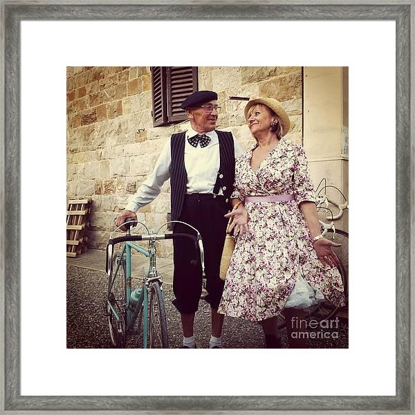 Vintage Love At L'eroica Framed Print