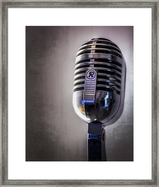 Vintage Microphone 2 Framed Print