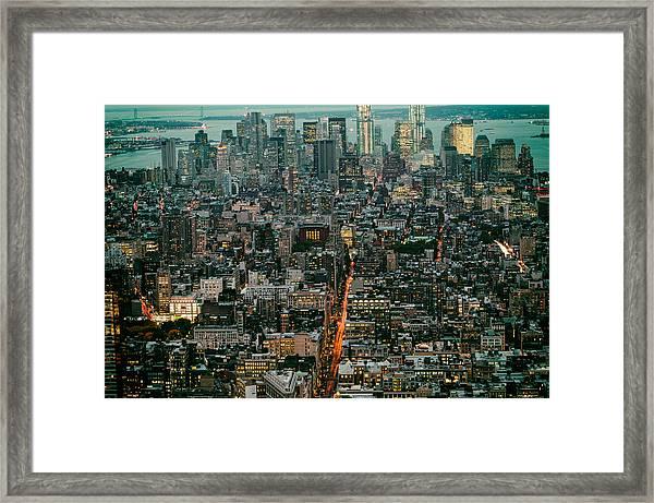 Vintage New York Skyline Framed Print