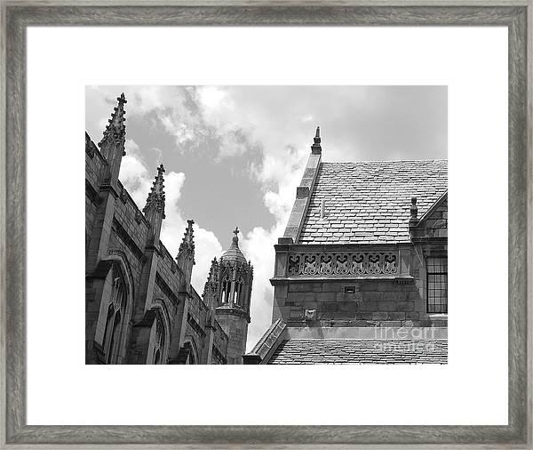 Vintage Ornate Architecture Framed Print