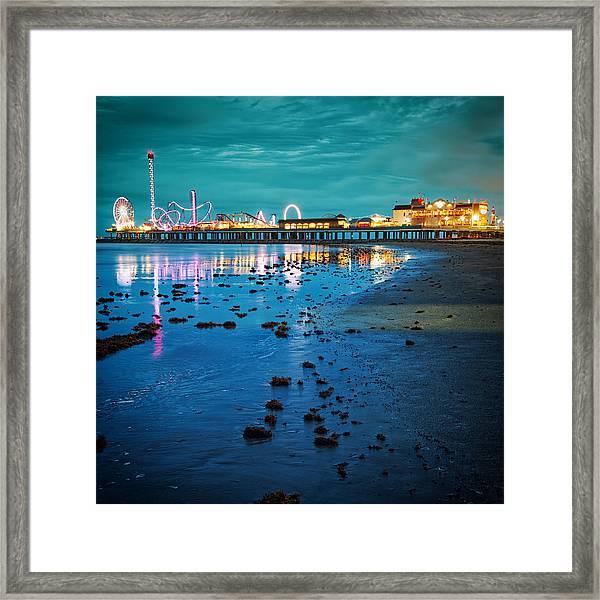 Vintage Pleasure Pier - Gulf Coast Galveston Texas Framed Print