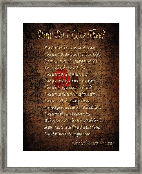 Vintage Poem 4 Framed Print